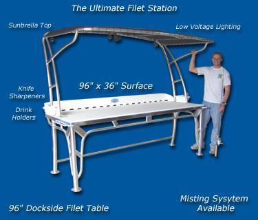 Dock Side Filet Tables Tournament Table Marine Boating
