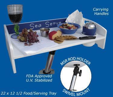 """Deep Blue Grand Appât table avec MSR Arm /& MS202 Balle Mount 25/""""x12/"""""""
