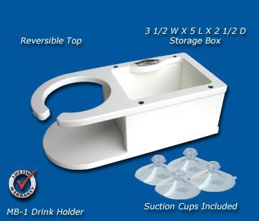 MB-1 Single Cup Holder w/Storage
