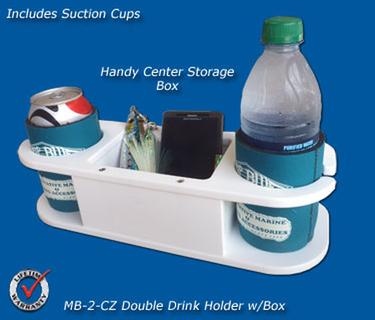 MB-2-CZ Double Drink Holder/Storage