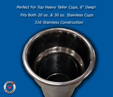 Stainless Flush Mount Cup Holder